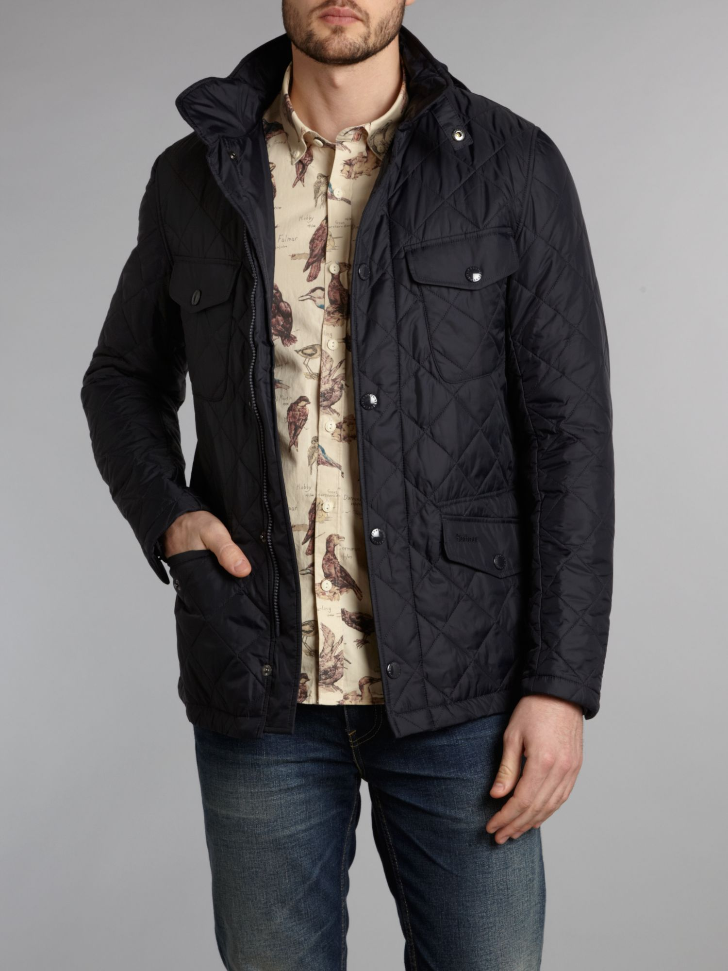 Barbour Harwick Lightweight Quilted Jacket in Blue for Men | Lyst