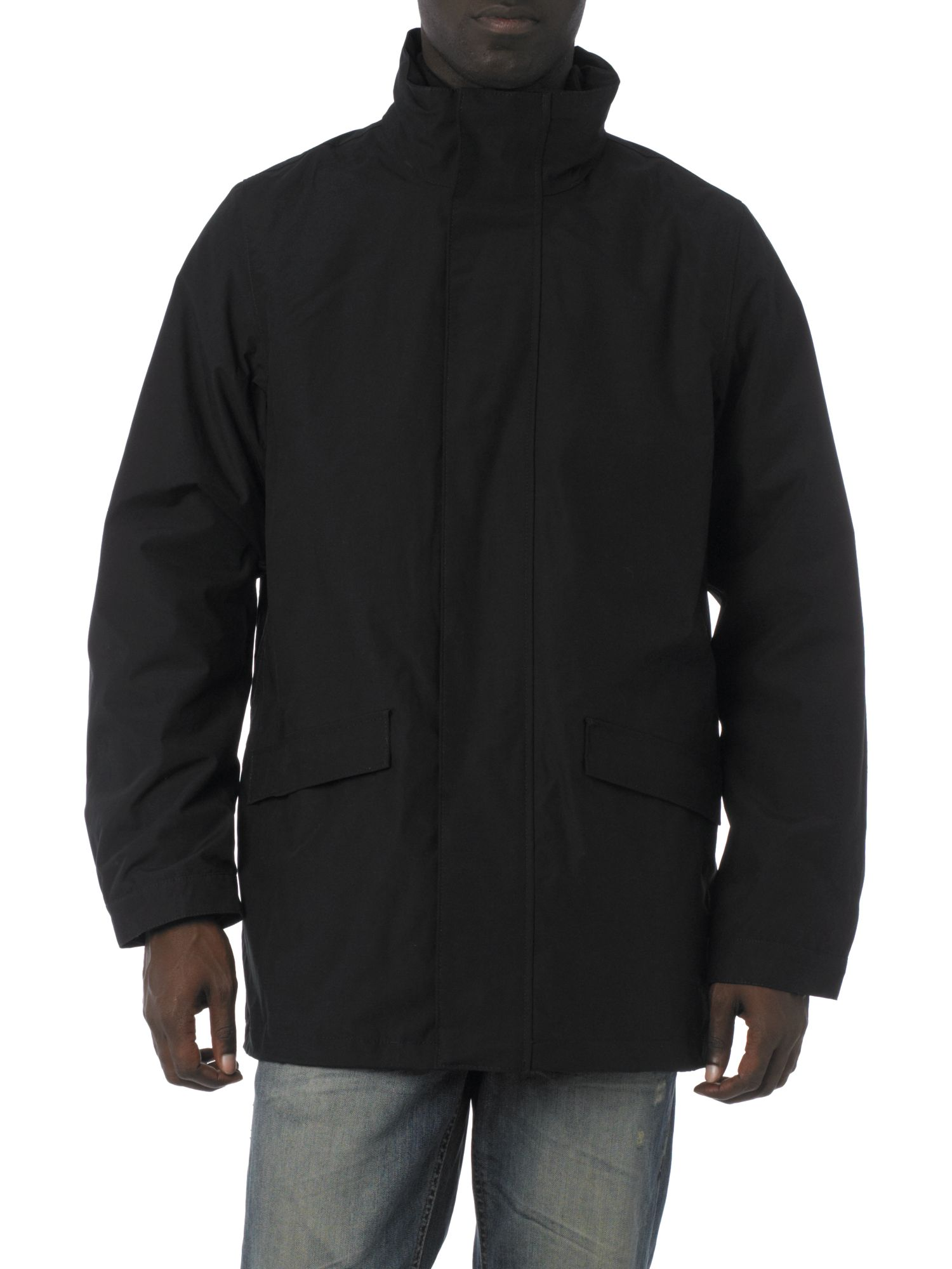 GANT Zip Through Jacket with Removable Inner Fleece in Black for Men