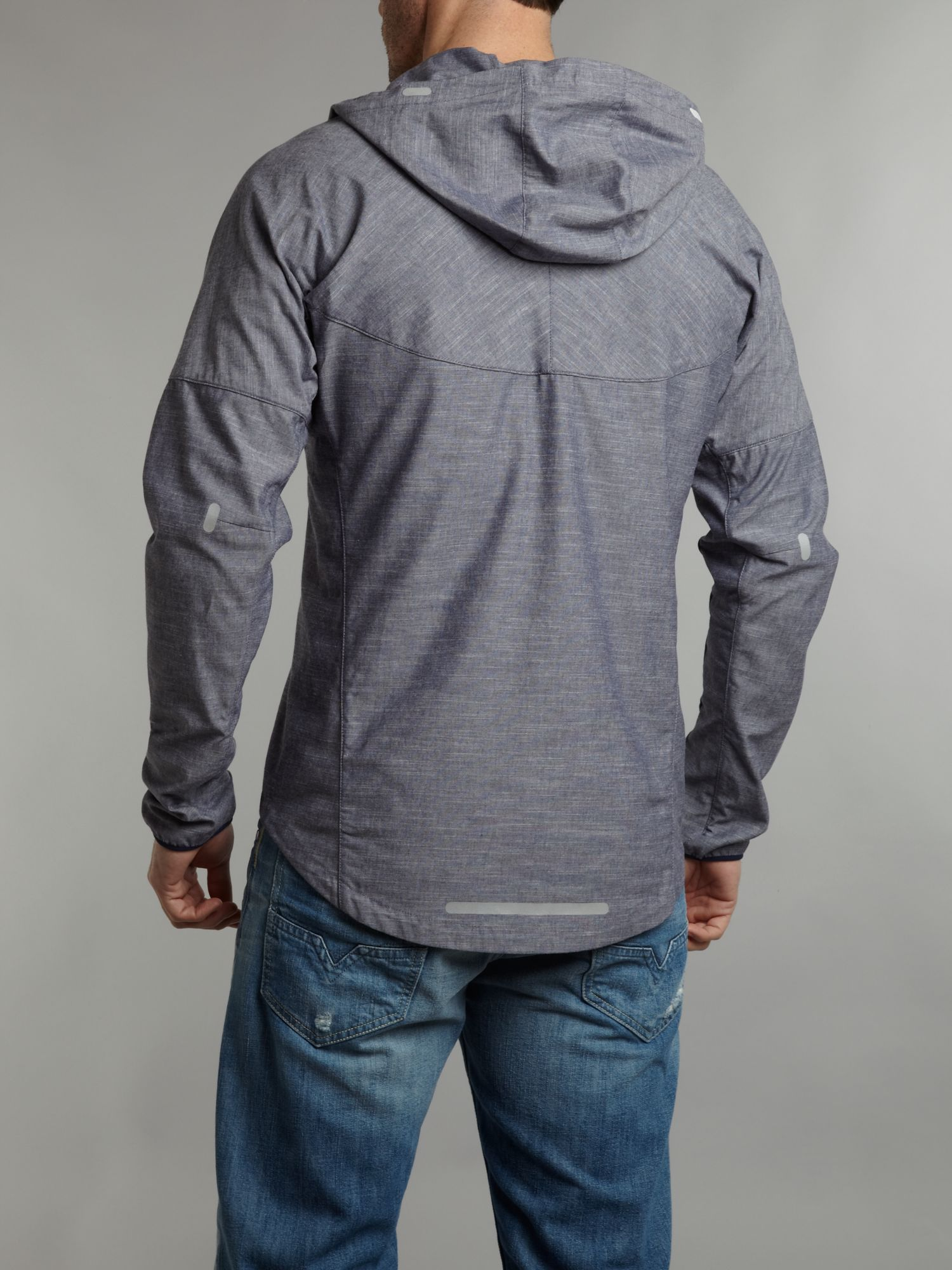 Nike Zip Up Jacket in Chambray (Grey) for Men