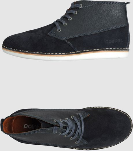 Pointer Hightop Dress Shoe in Blue for Men