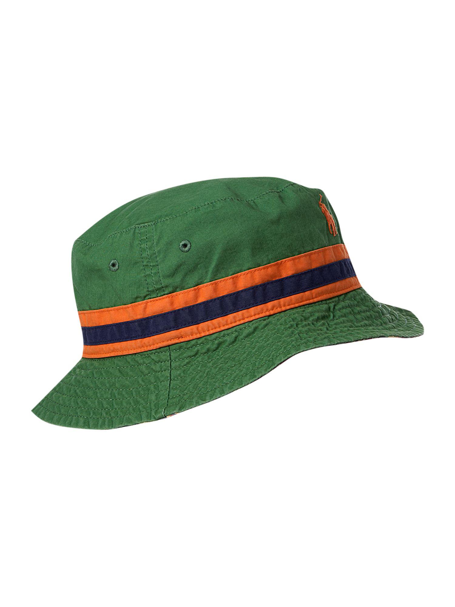 polo ralph lauren reversible bucket hat in gray for men