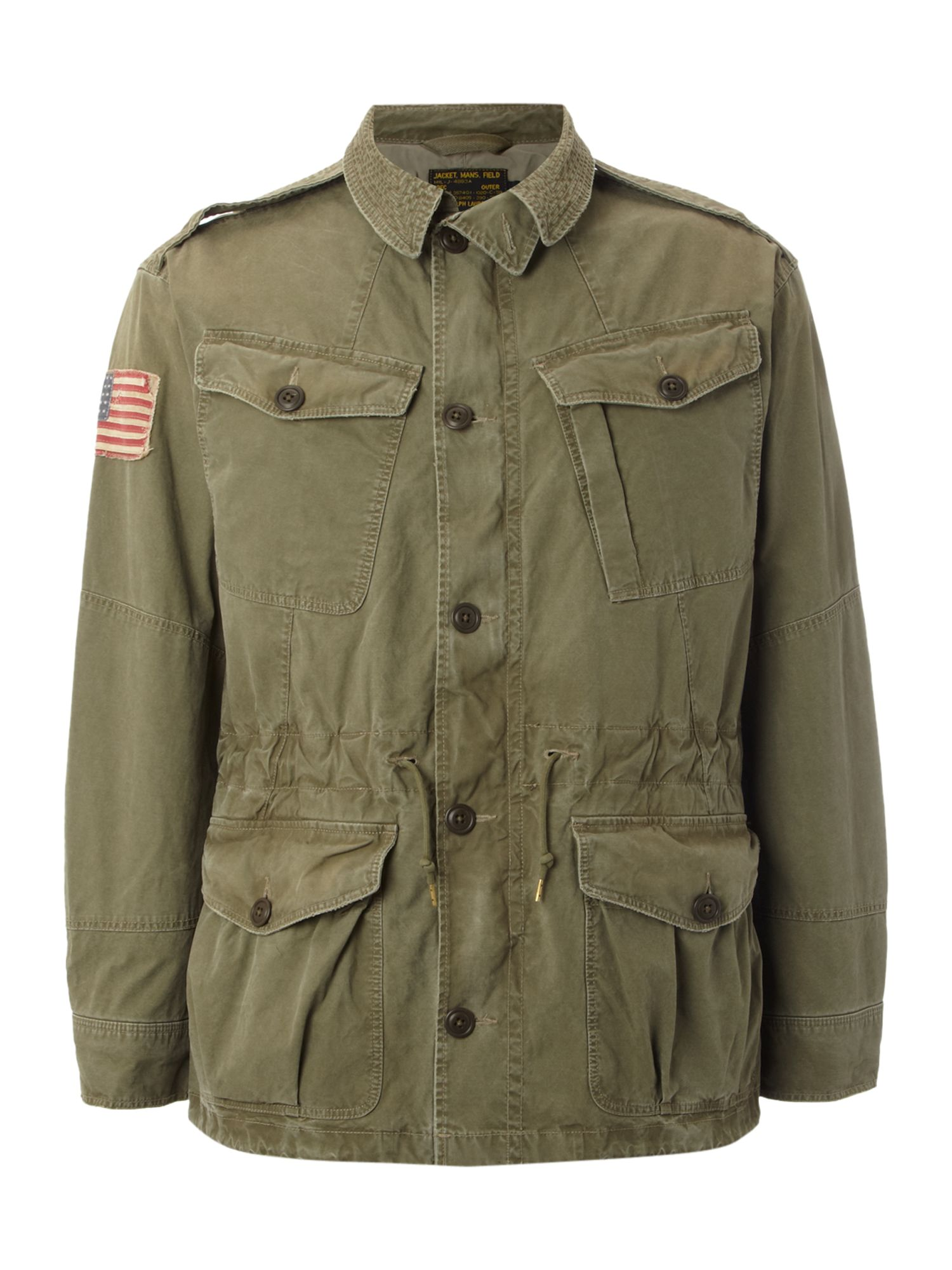 Polo Ralph Lauren Military Combat Jacket In Natural For