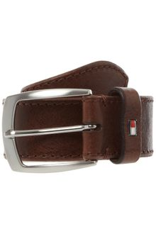 Tommy Hilfiger Stitched Edge Leather Belt - Lyst