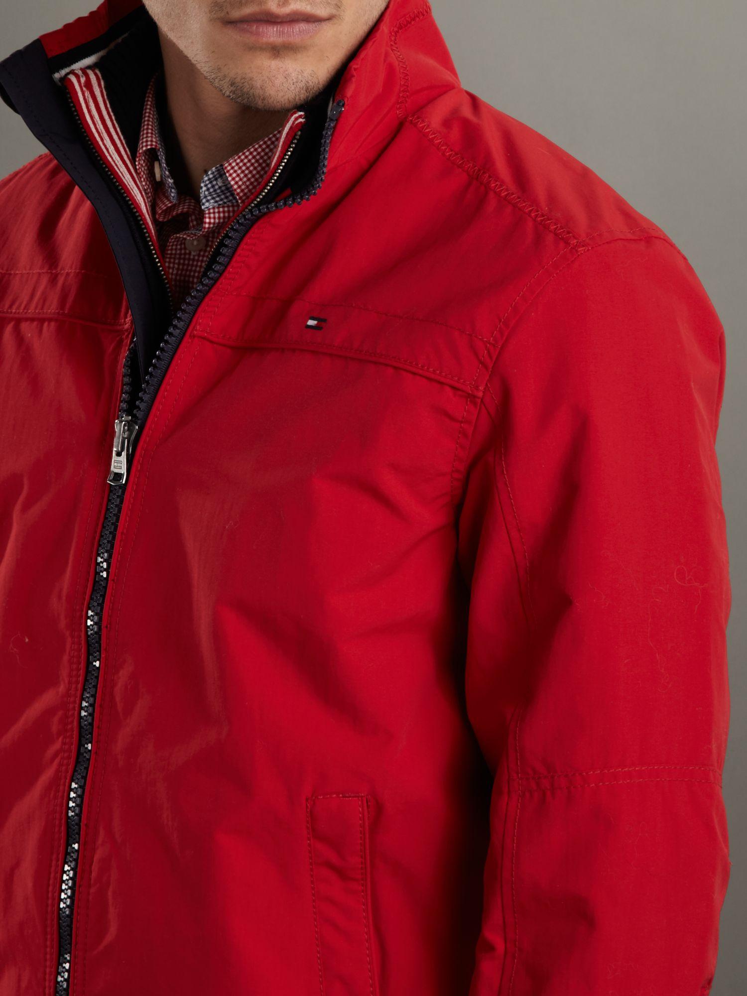 tommy hilfiger matt bomber jacket in red for men lyst. Black Bedroom Furniture Sets. Home Design Ideas