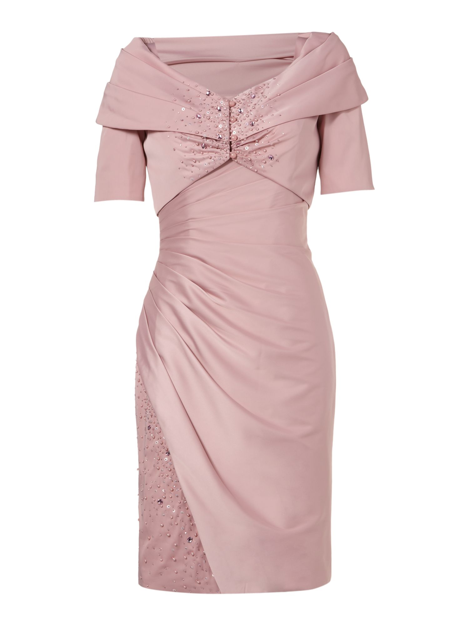 Anoushka g danielle strap dress and jacket in pink lyst for Jacket to wear with dress to wedding