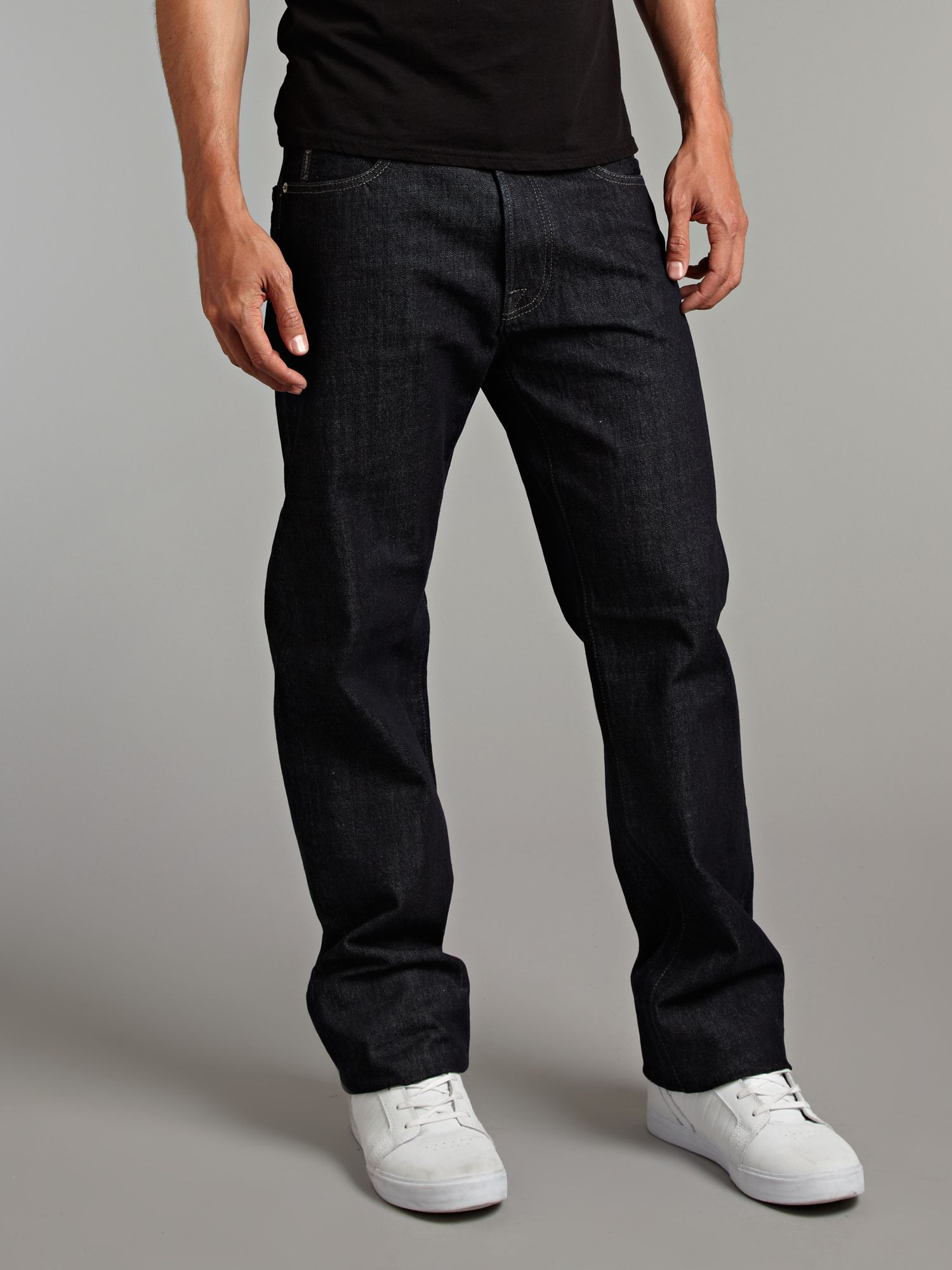 Armani jeans Straight Dark Wash Jeans in Blue for Men | Lyst