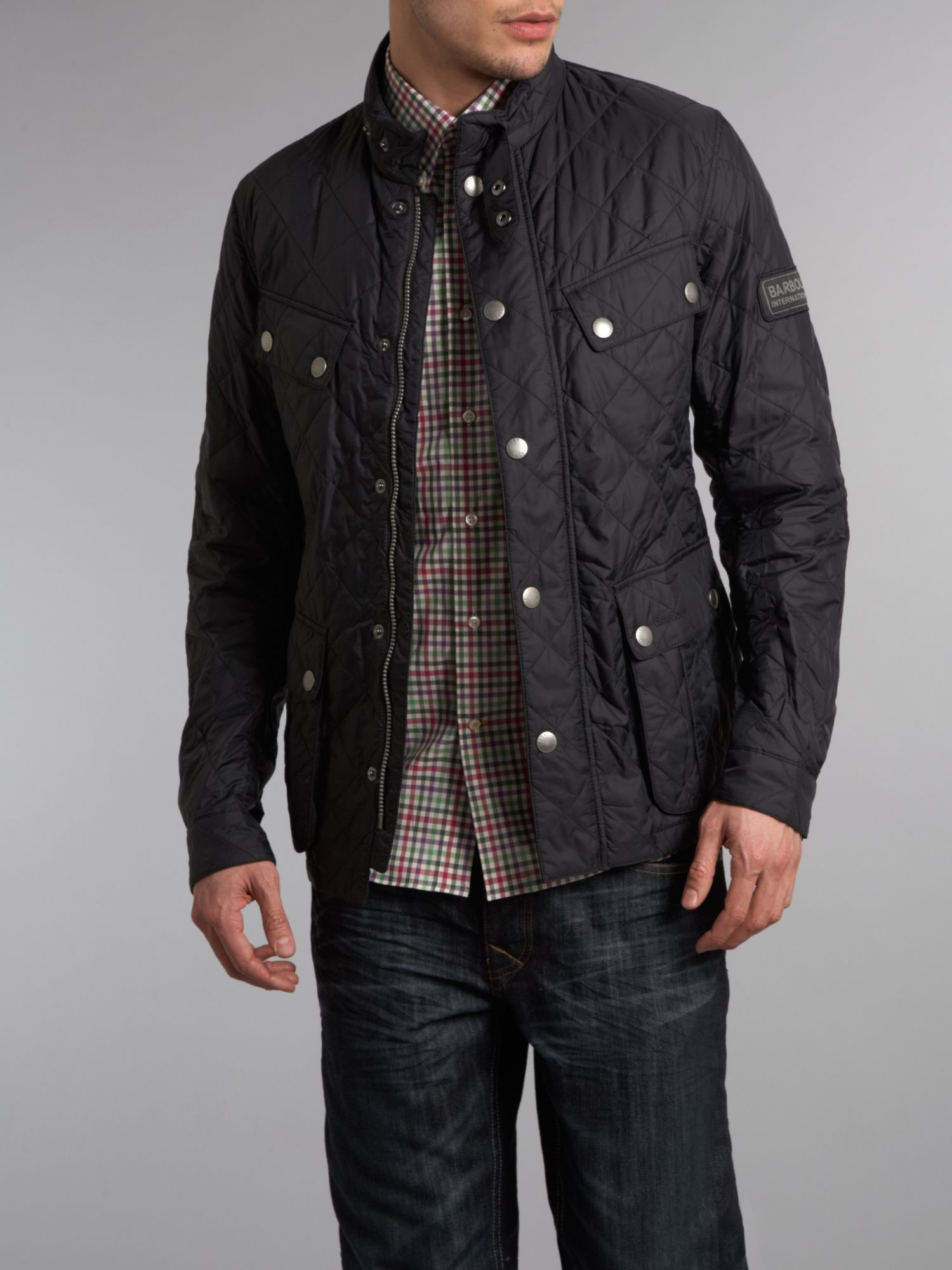 Barbour Ariel Quilted Jacket In Black For Men Lyst