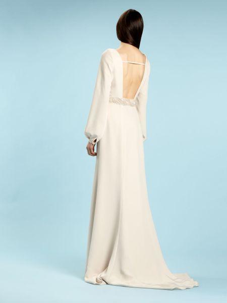 Biba alexa bell sleeve bridal gown in white ivory lyst for Bell sleeve wedding dress