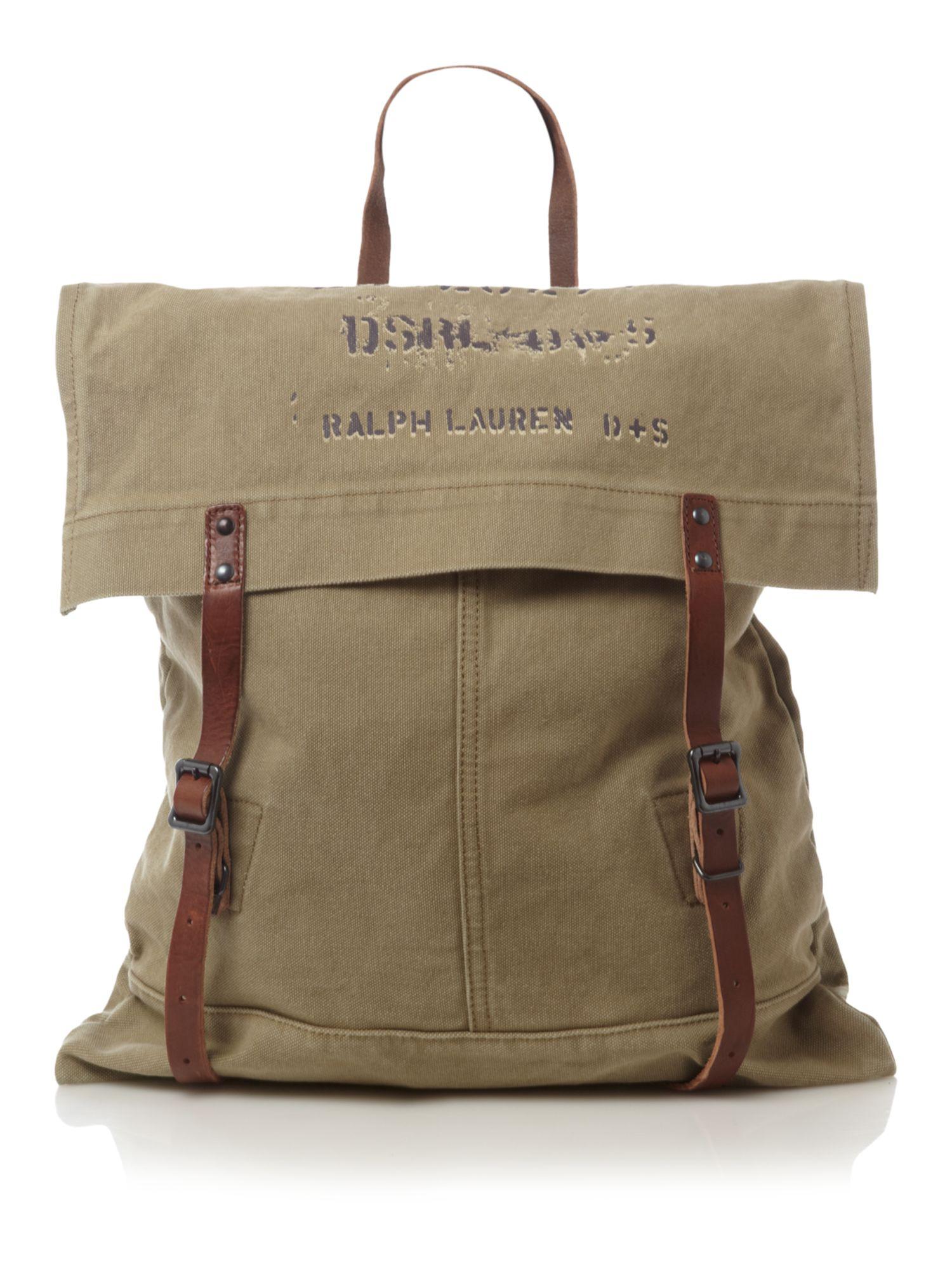Denim & supply ralph lauren Canvas Satchel Bag in Natural for Men ...