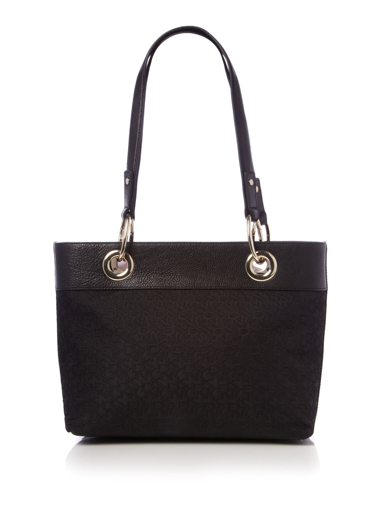dkny tc scarf tote bag in black lyst