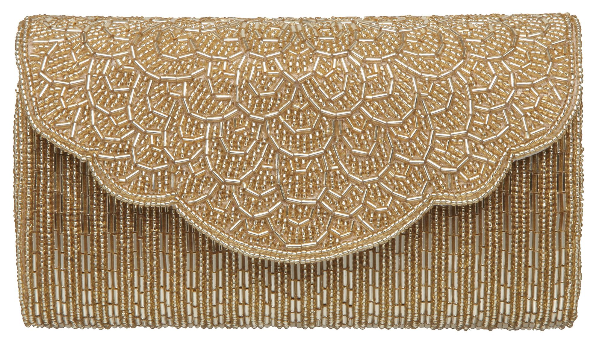 dune e magical cylinder beaded clutch bag in gold lyst