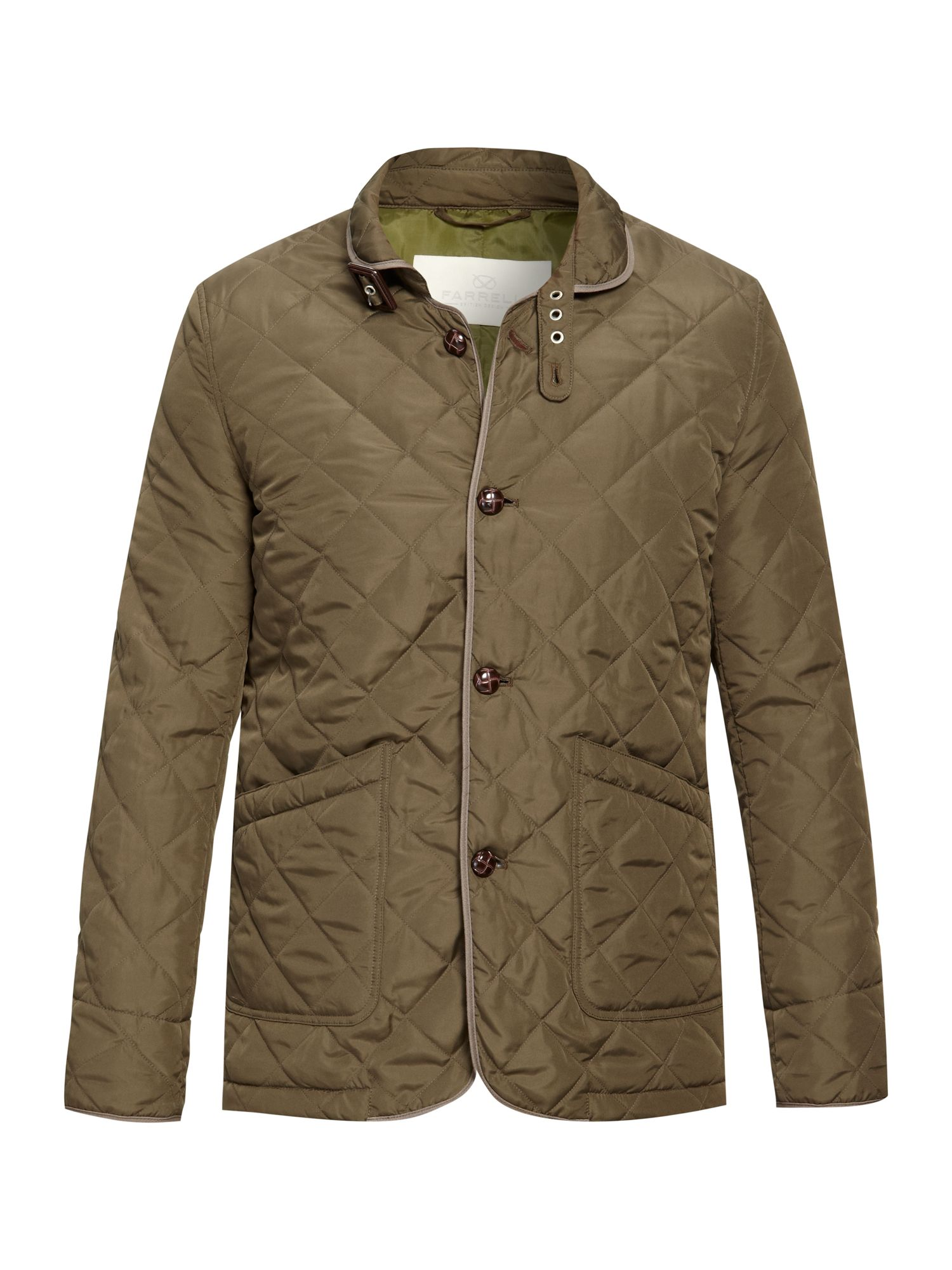 Farrell Monty Lightweight Quilted Jacket In Green For Men