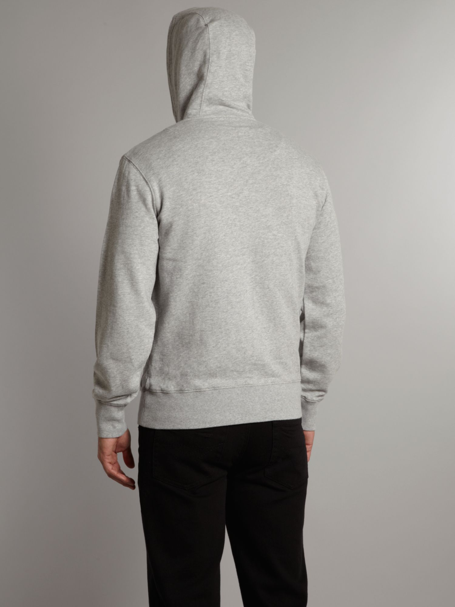 Fred Perry Hooded Zip Through Sweater in Grey Marl (Grey) for Men