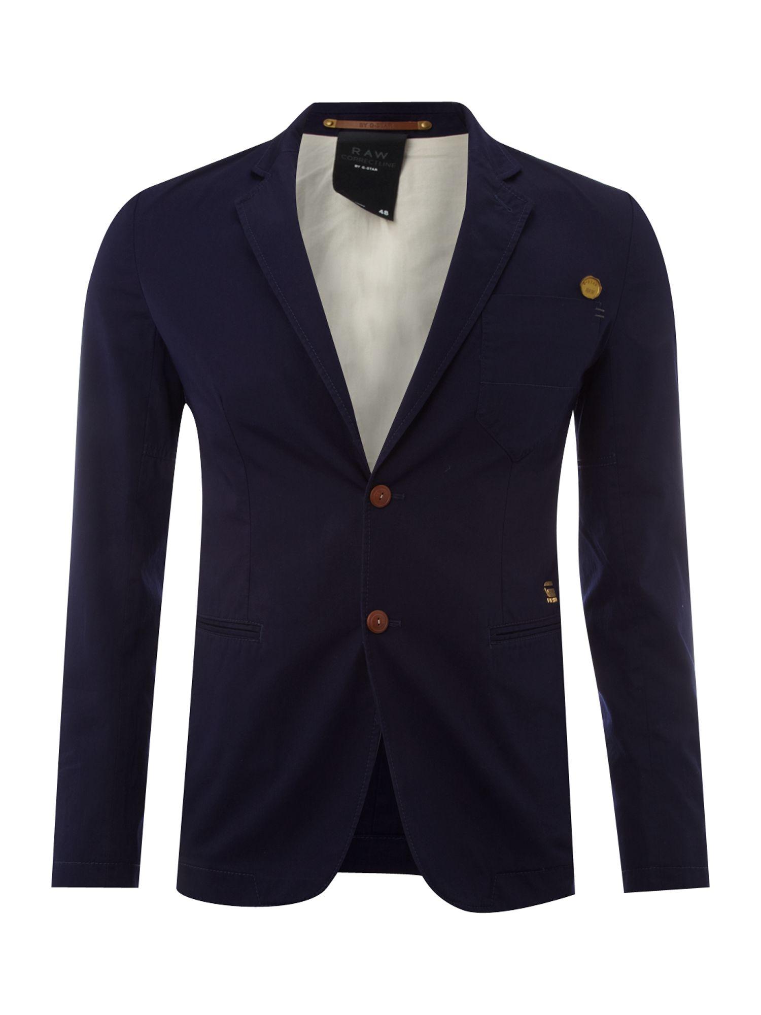 star raw correct line blazer in blue for men lyst. Black Bedroom Furniture Sets. Home Design Ideas