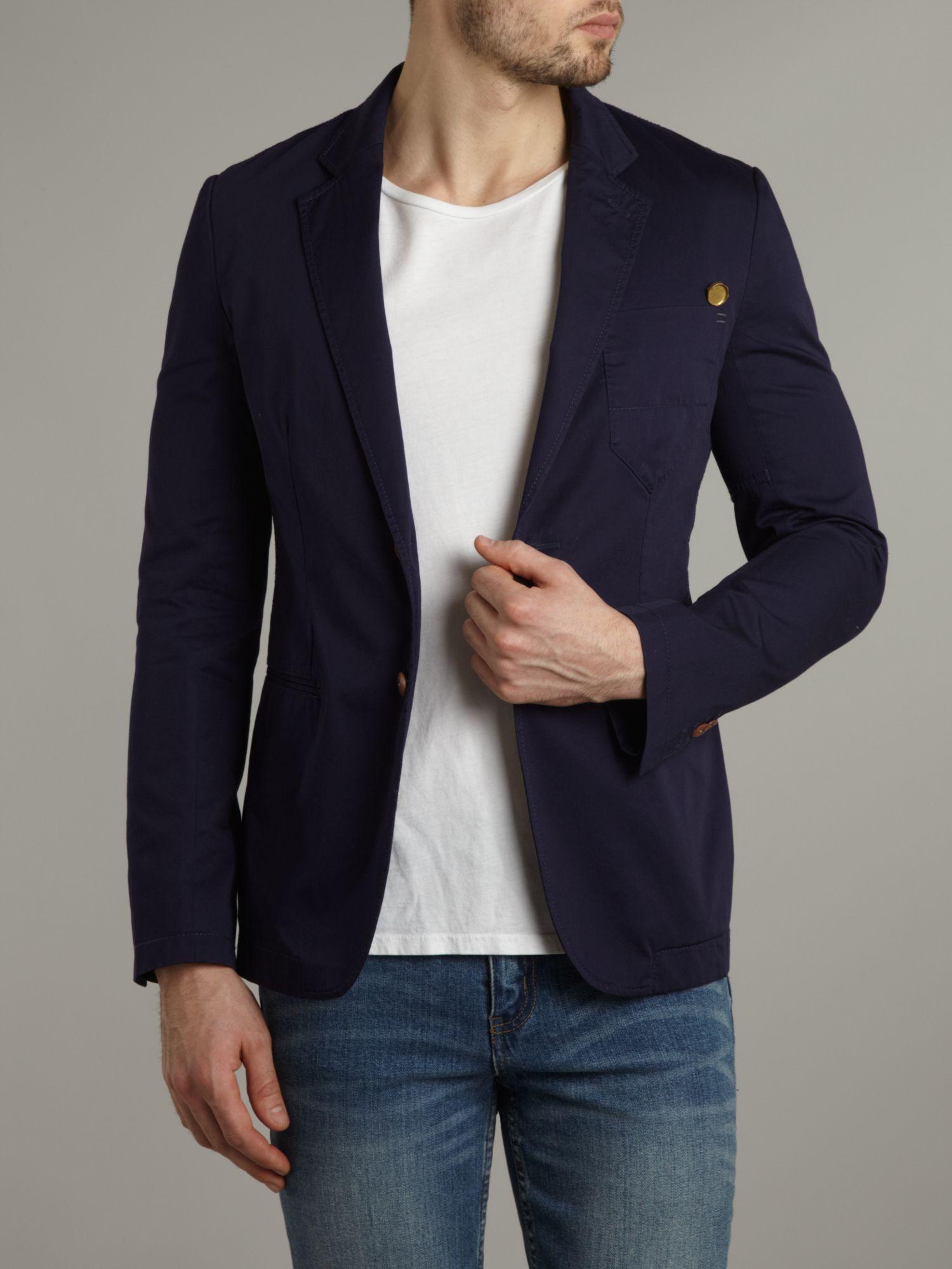 g star raw correct line blazer in blue for men lyst. Black Bedroom Furniture Sets. Home Design Ideas