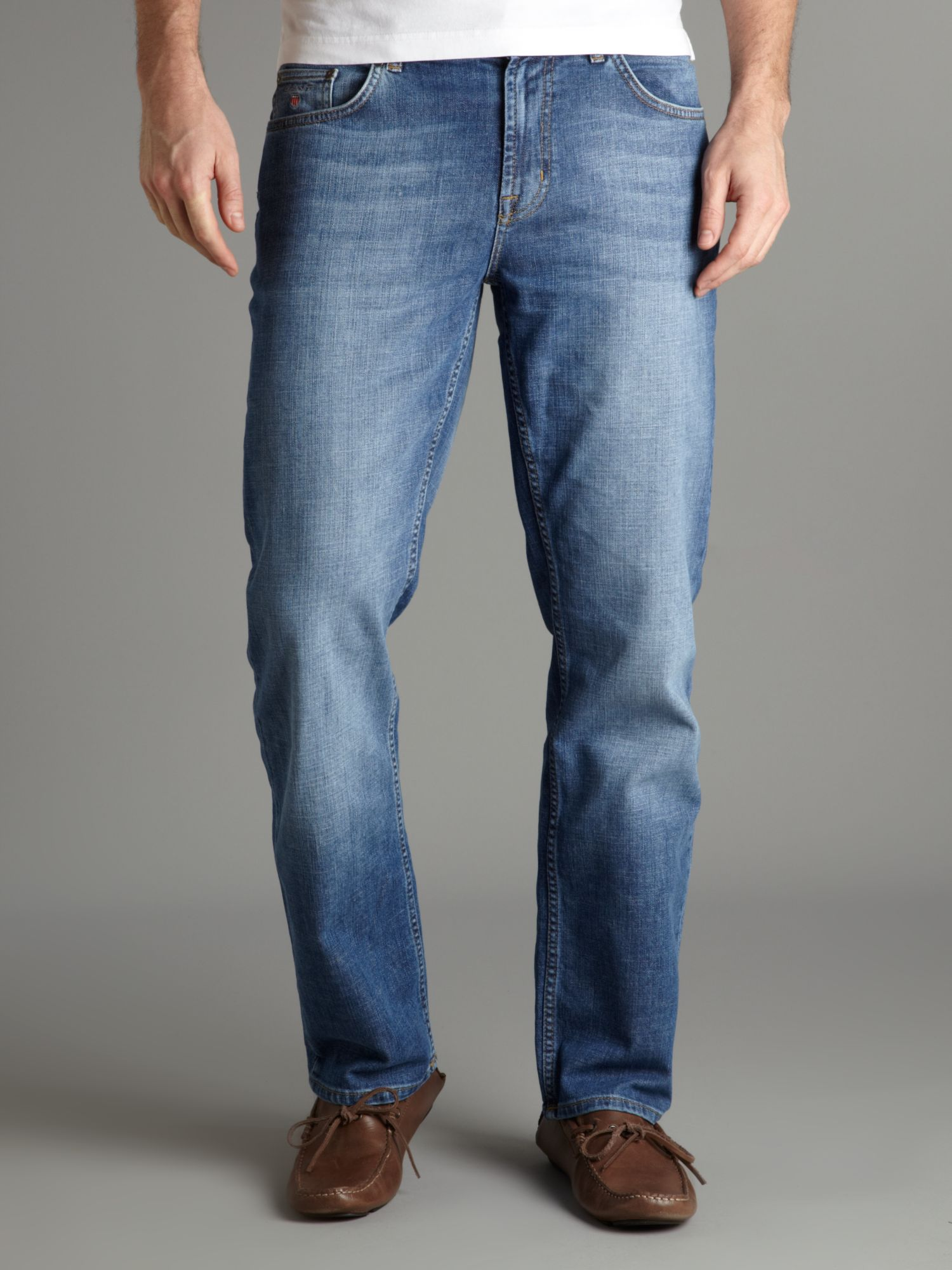 GANT Straight Fitted Jeans in Denim (Blue) for Men