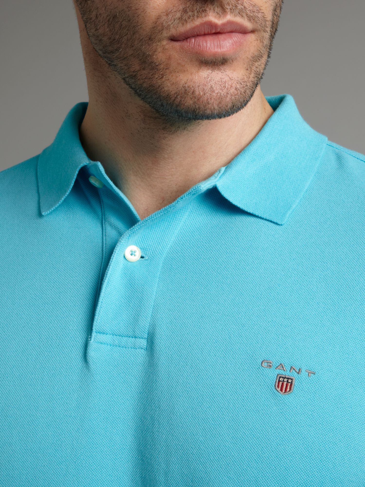 GANT Classic Fitted Polo Shirt in Turquoise (Blue) for Men