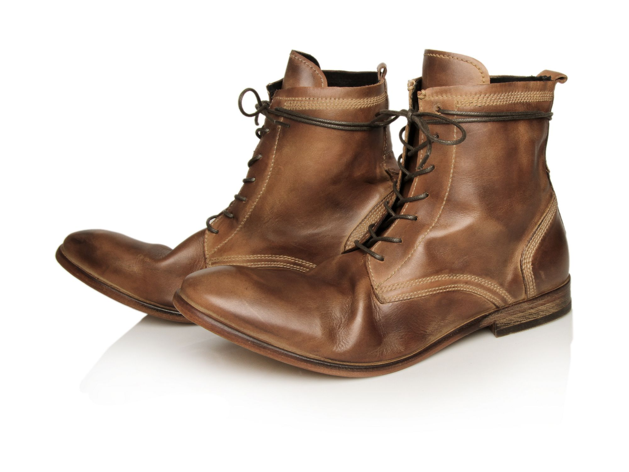 h by hudson swathmore boots in brown for lyst