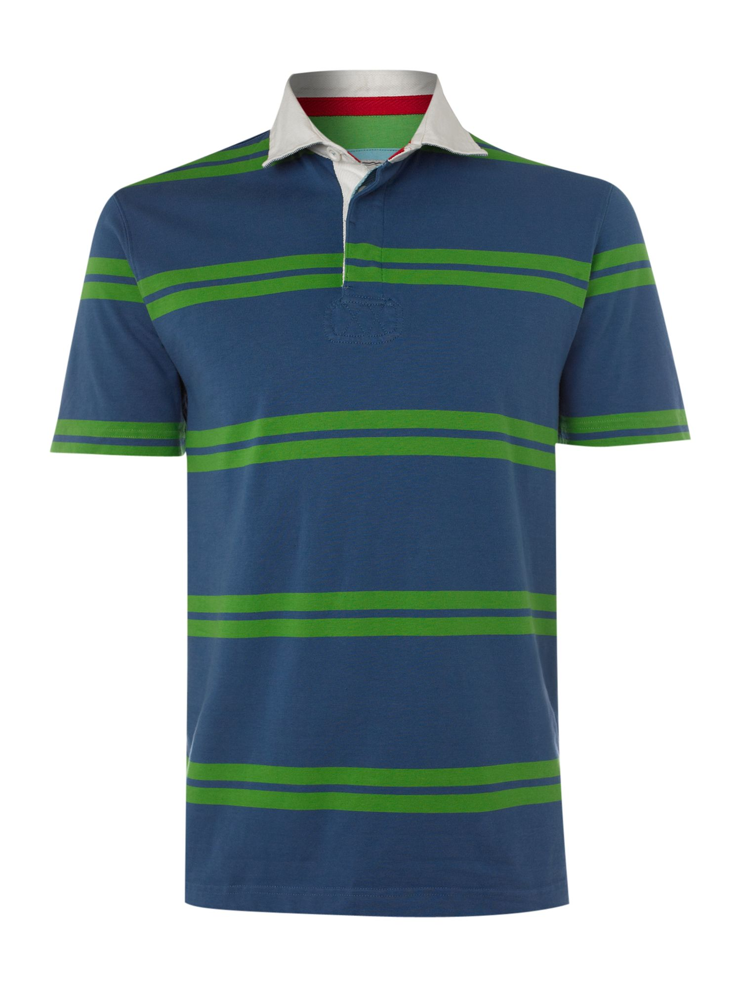Howick Stanyan Striped Rugby Shirt In Blue For Men