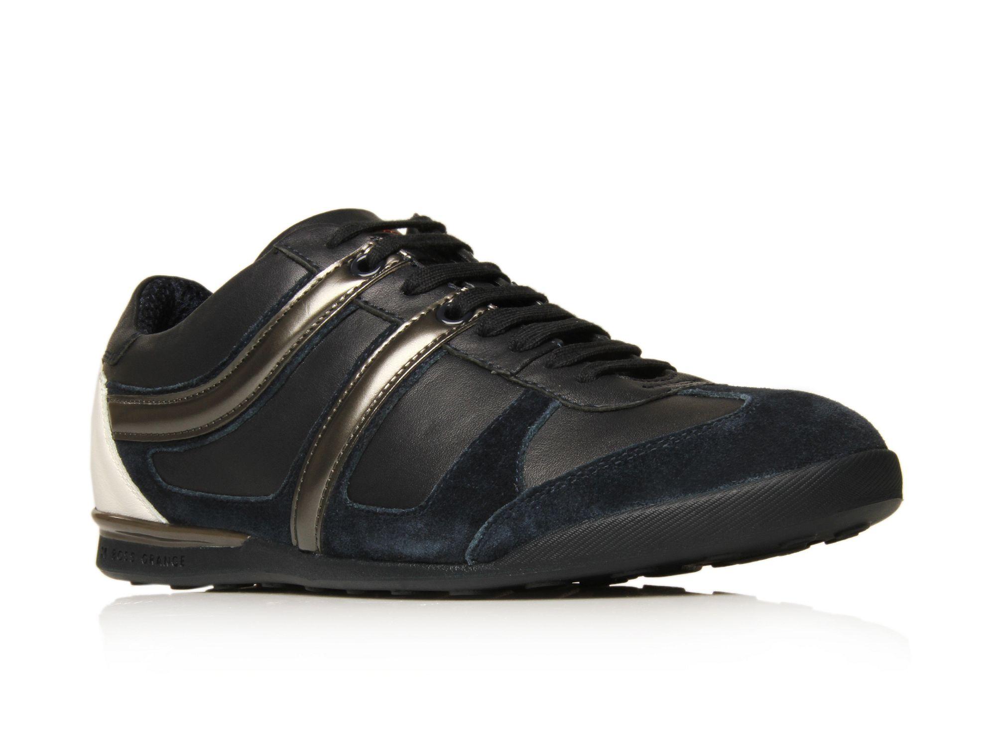 hugo boss knob sneakers in black for men navy lyst. Black Bedroom Furniture Sets. Home Design Ideas