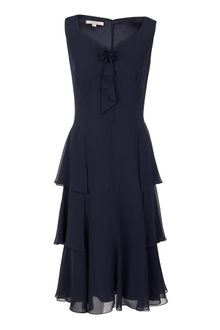 Jacques Vert Monique Chiffon Tier Dress - Lyst
