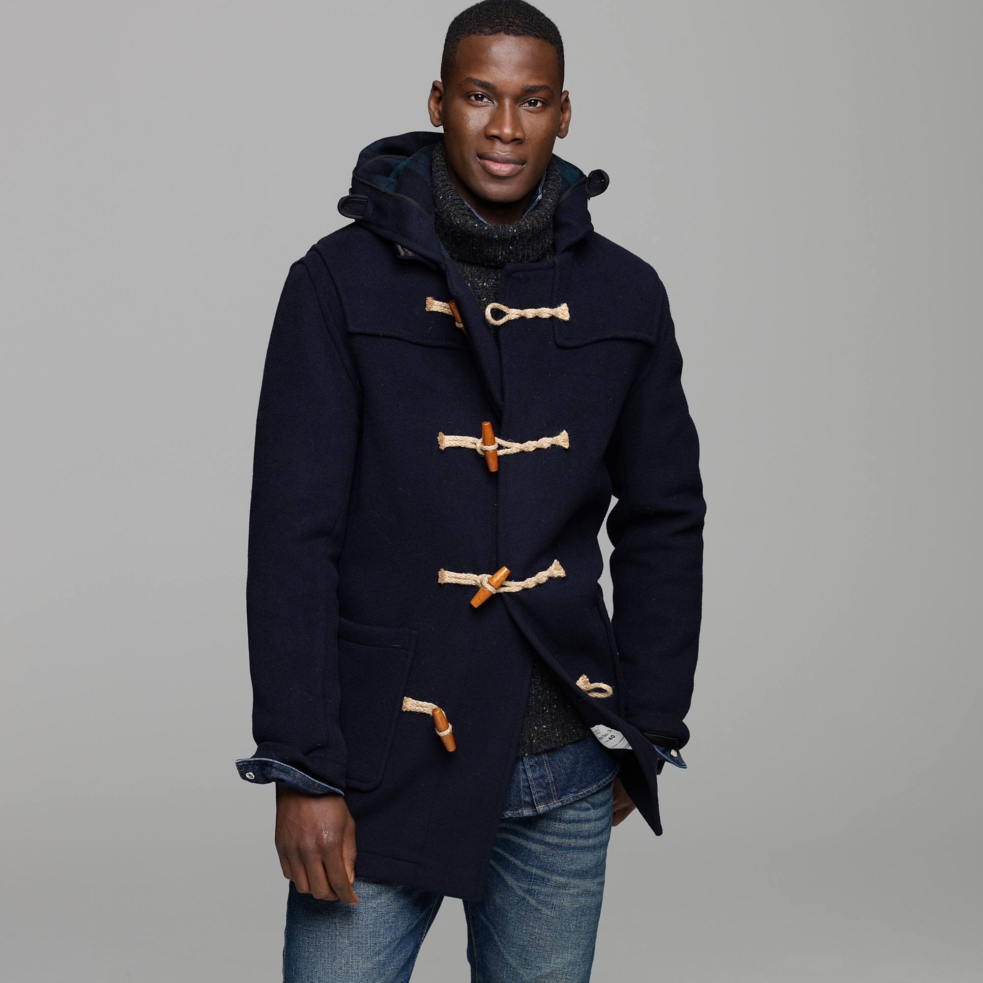 J.crew Mid Monty Duffle Coat in Blue for Men | Lyst