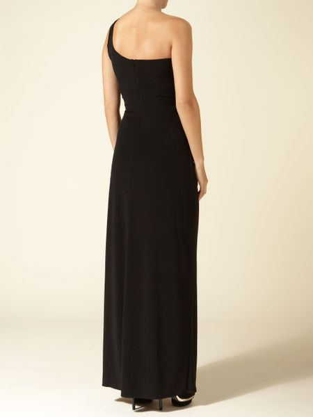 Js Collections Lace One Shoulder Dress In Black Lyst