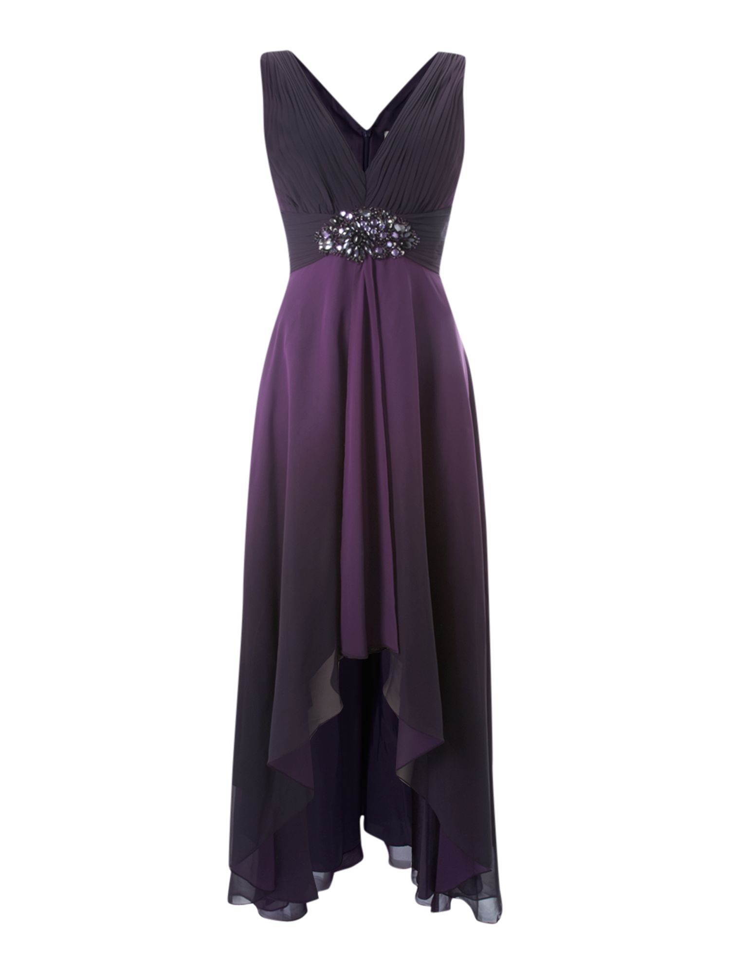 low v neck maxi dress