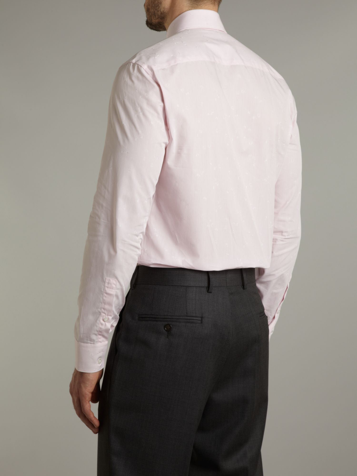 KENZO Long Sleeve Tonal Floral Shirt in Light Pink (Pink) for Men
