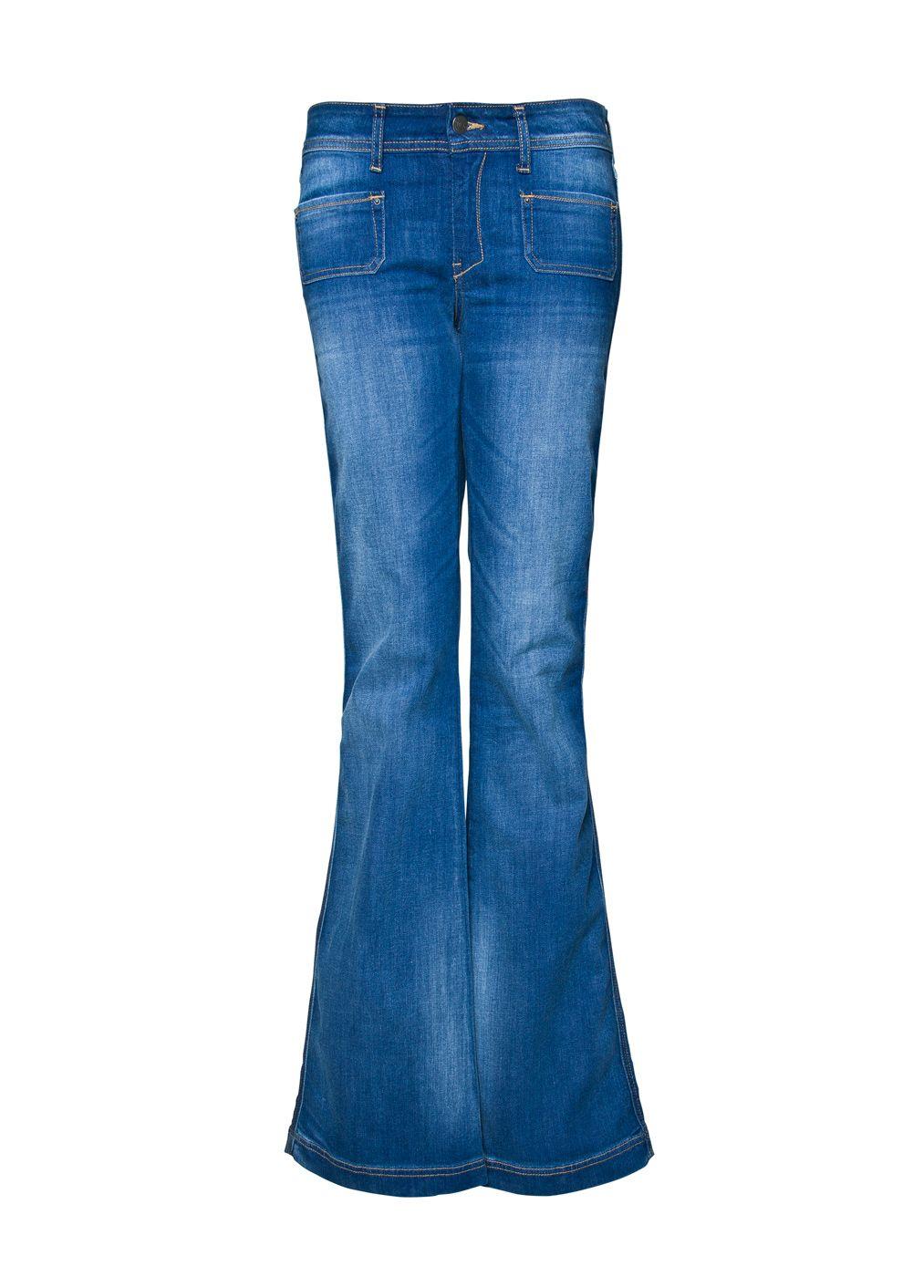 Mango Belt Button Jeans in Denim (Blue)