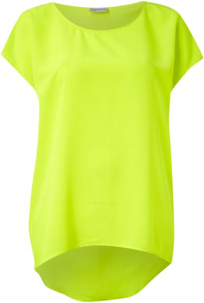 Mary Portas Oversize Tee in Green (lime)