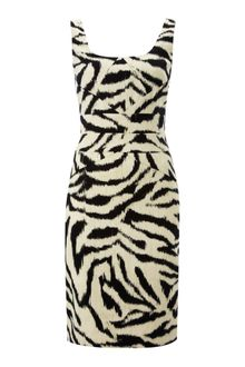 Michael by Michael Kors Zebra Print Dress - Lyst