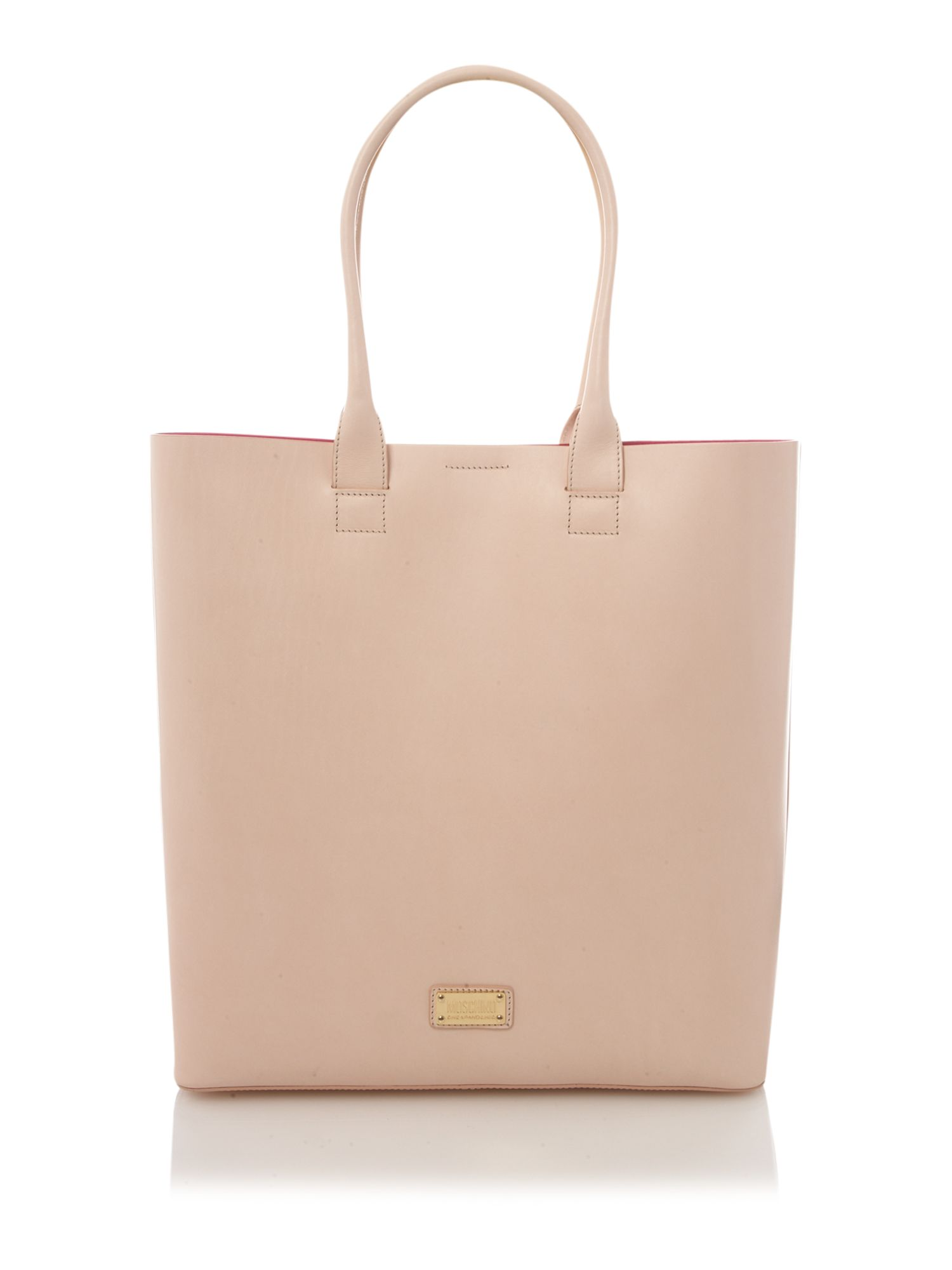 Boutique Moschino Clear Heart Tote in Pink (Natural)