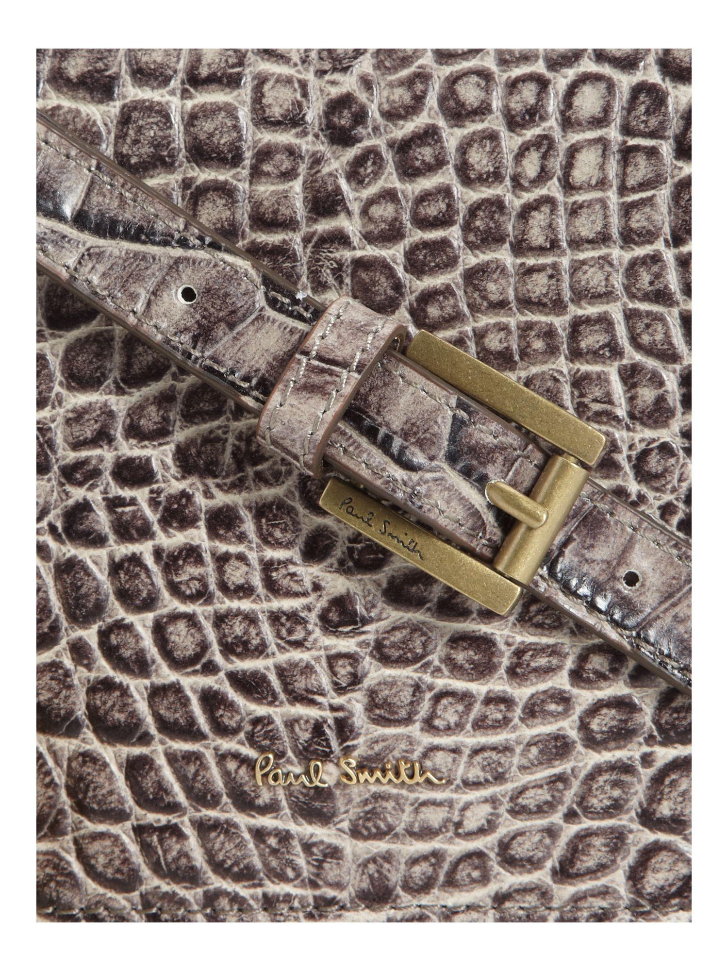 Paul Smith Crocodile Small Crossbody in Grey (Grey)