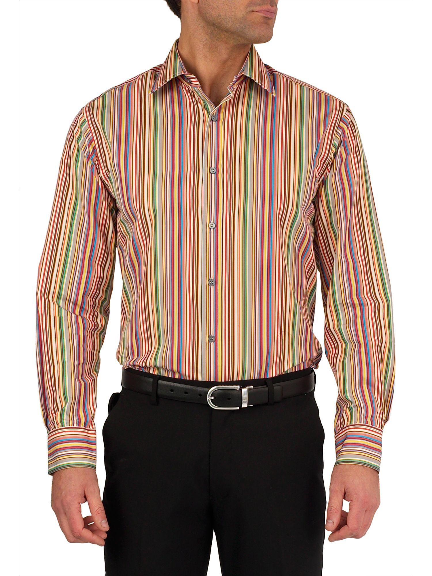 paul smith formal cotton longsleeved mini striped shirt