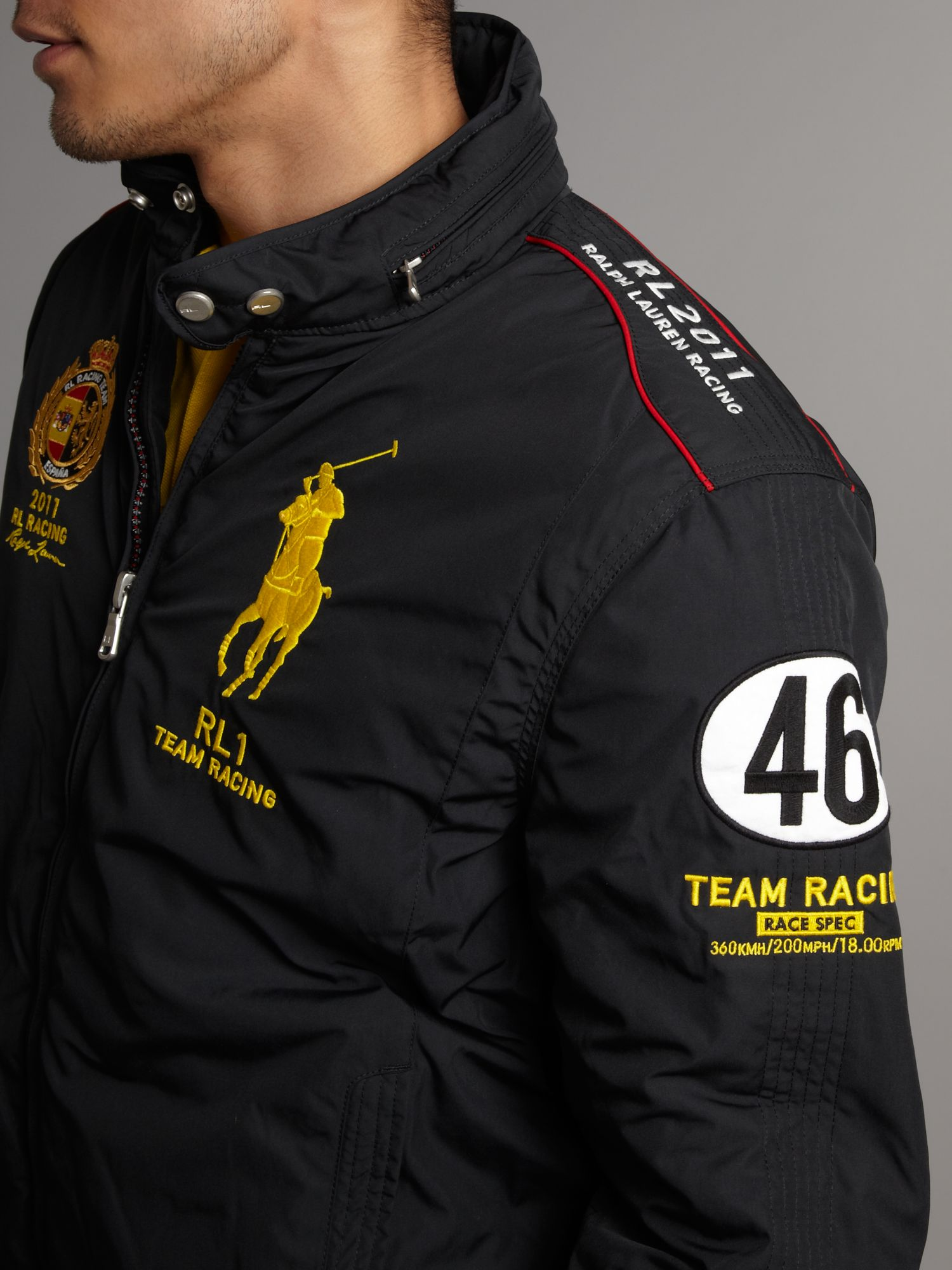 Polo Ralph Lauren Racing Espana Technical Jacket In Black For Men Lyst
