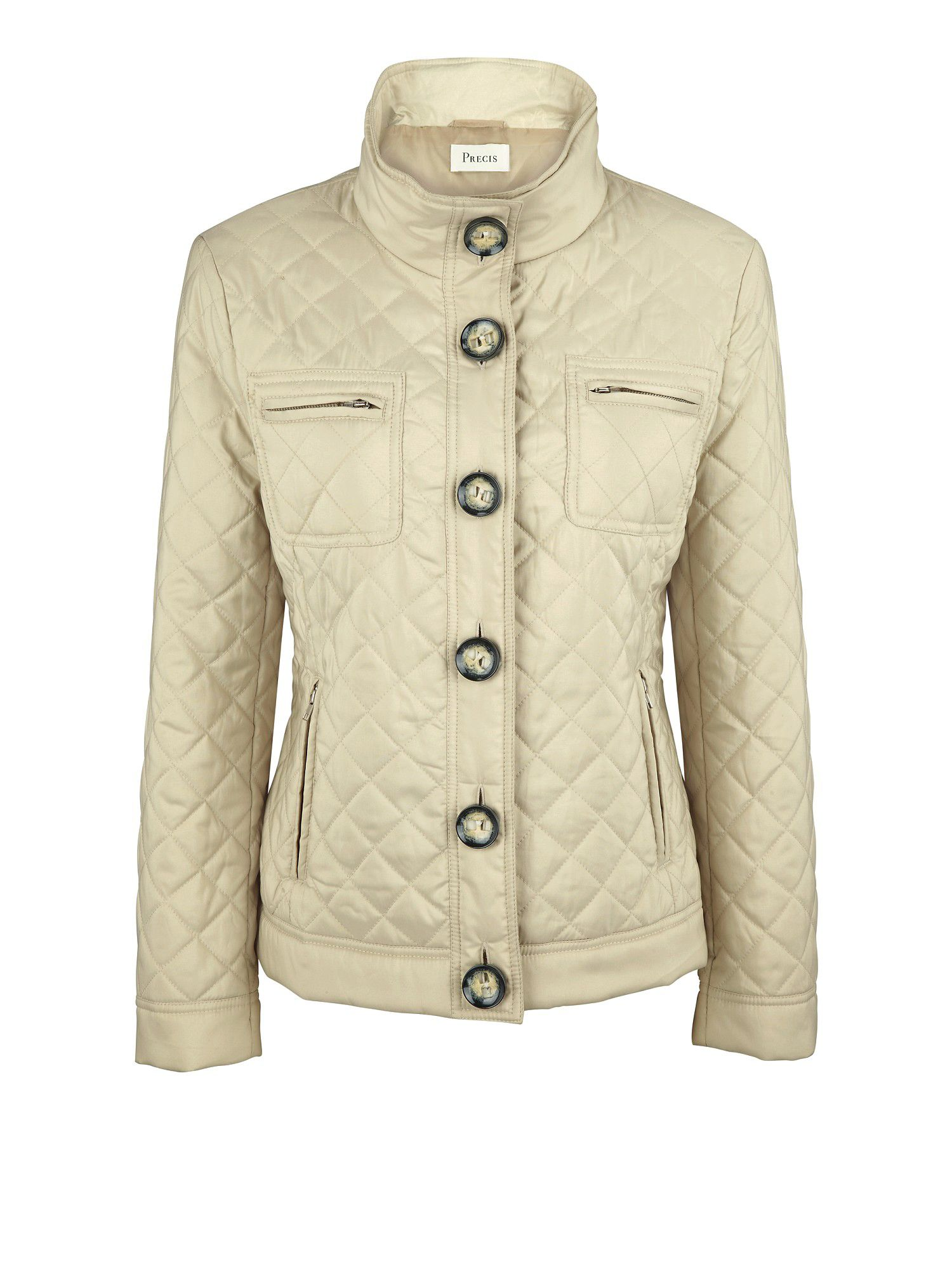 Precis Petite Stone Quilted Short Jacket In Natural Lyst