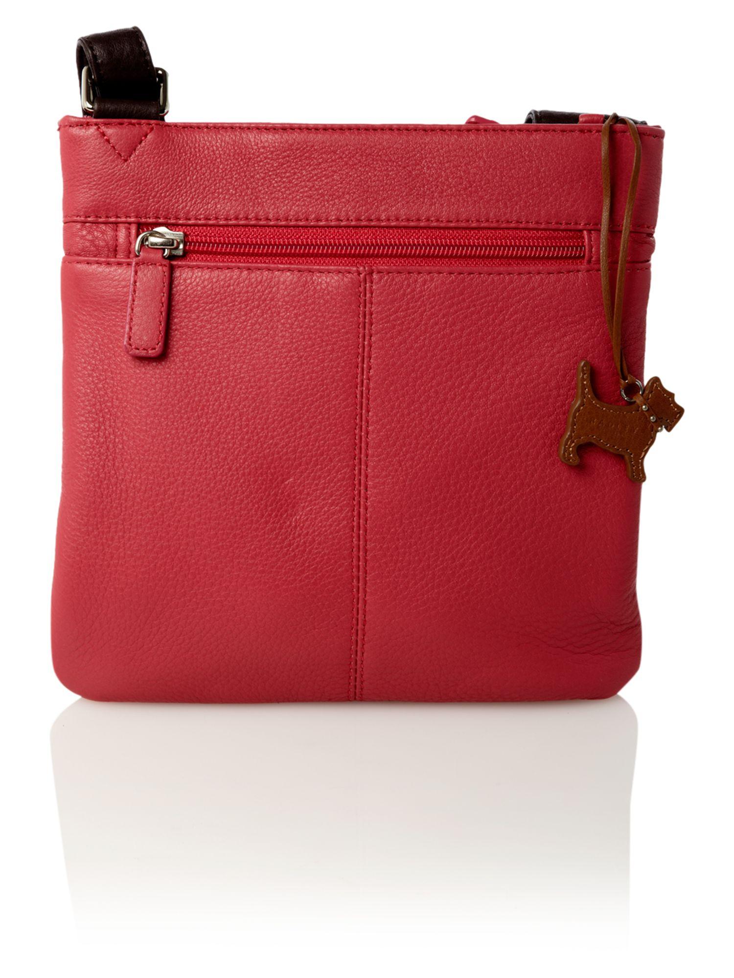 Radley Colourblock Small Pocket Cross Body Bag in Pink (Brown)