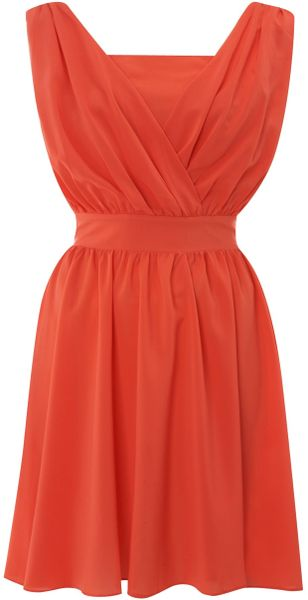 Sodamix Pippa Plain Dress in Orange (peach)