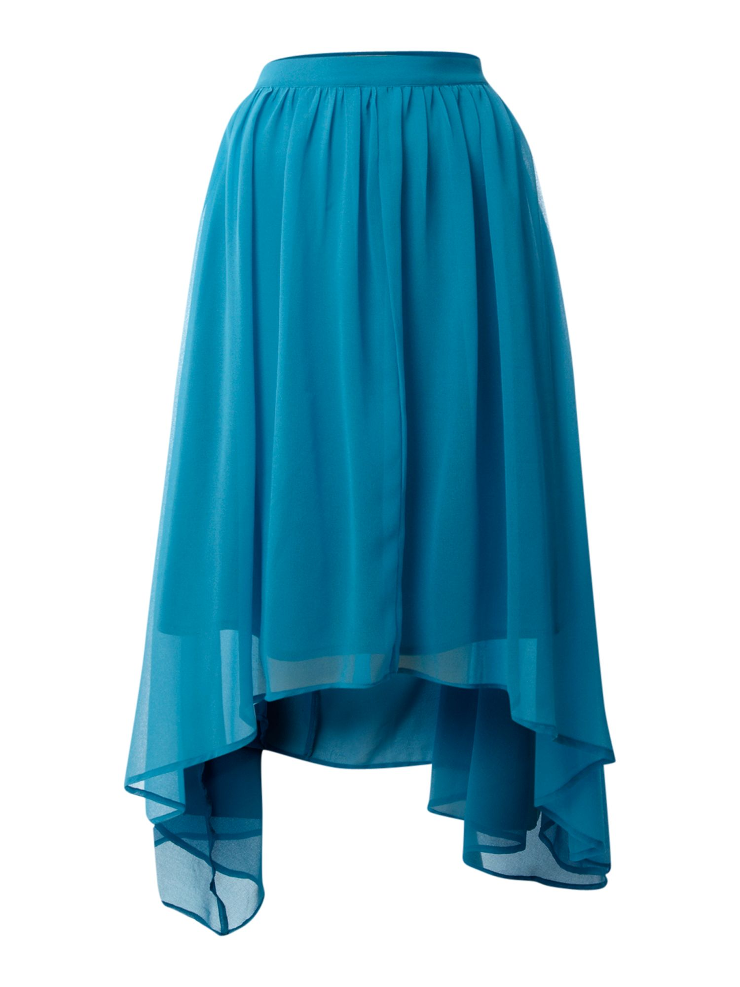 therapy skirt high low hem in blue lyst
