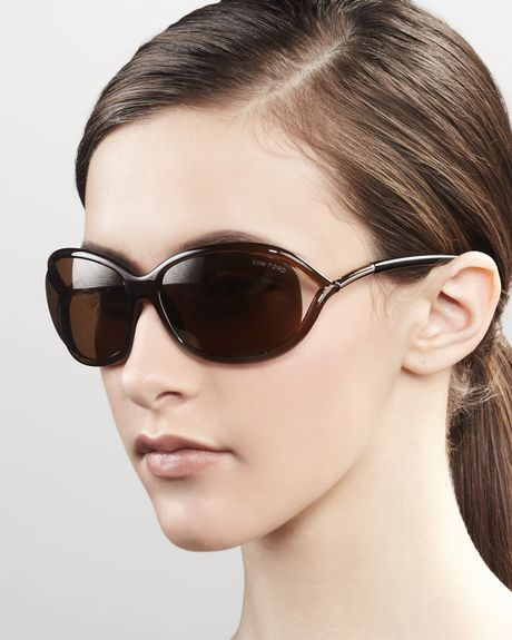 tom ford jennifer sunglasses in brown shiny black grey lyst. Cars Review. Best American Auto & Cars Review