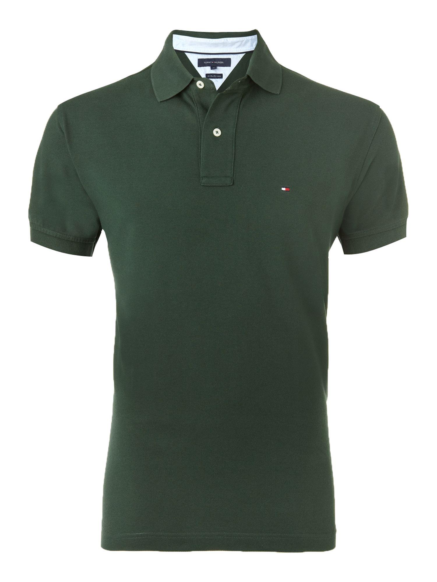 tommy hilfiger knit regular fit polo shirt in green for. Black Bedroom Furniture Sets. Home Design Ideas