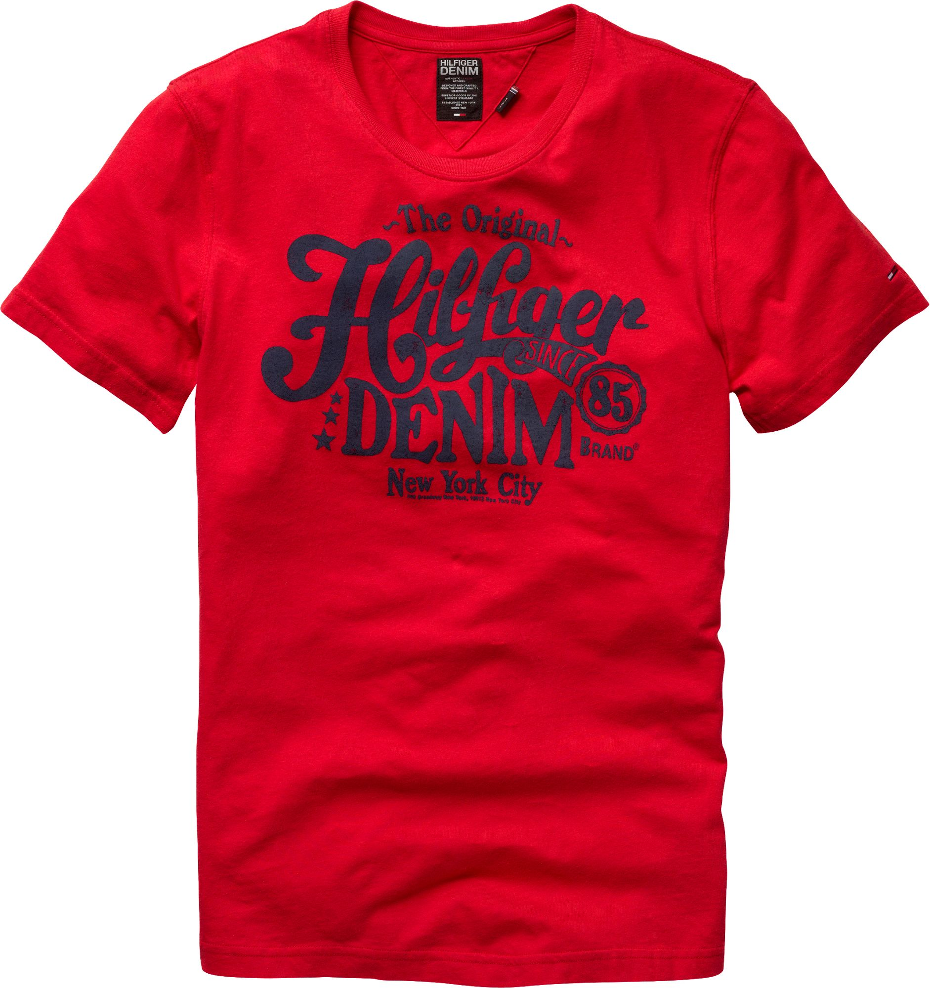 tommy hilfiger federer original hilfiger denim tshirt in red for men. Black Bedroom Furniture Sets. Home Design Ideas