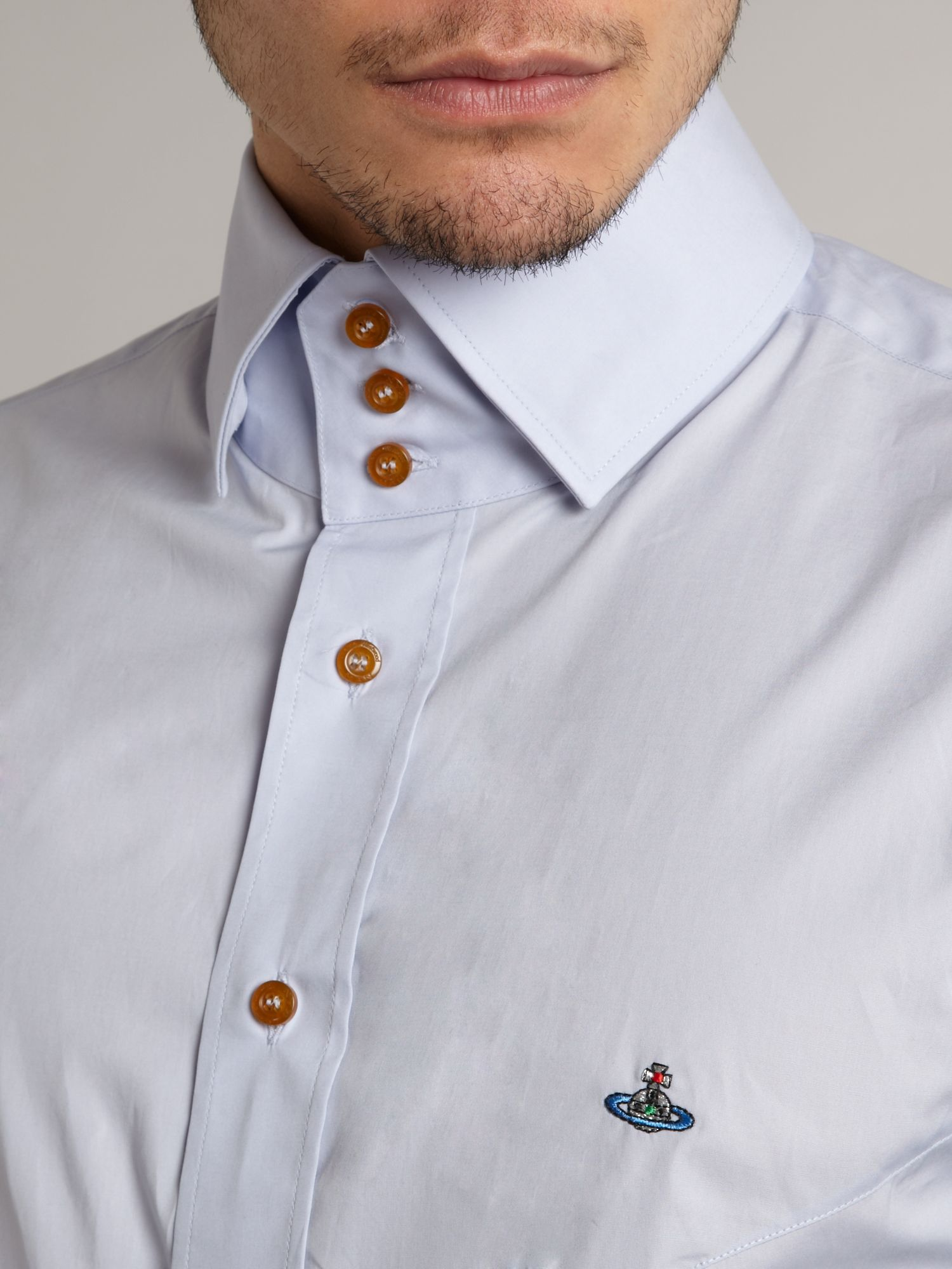 lyst vivienne westwood classic three button collar shirt