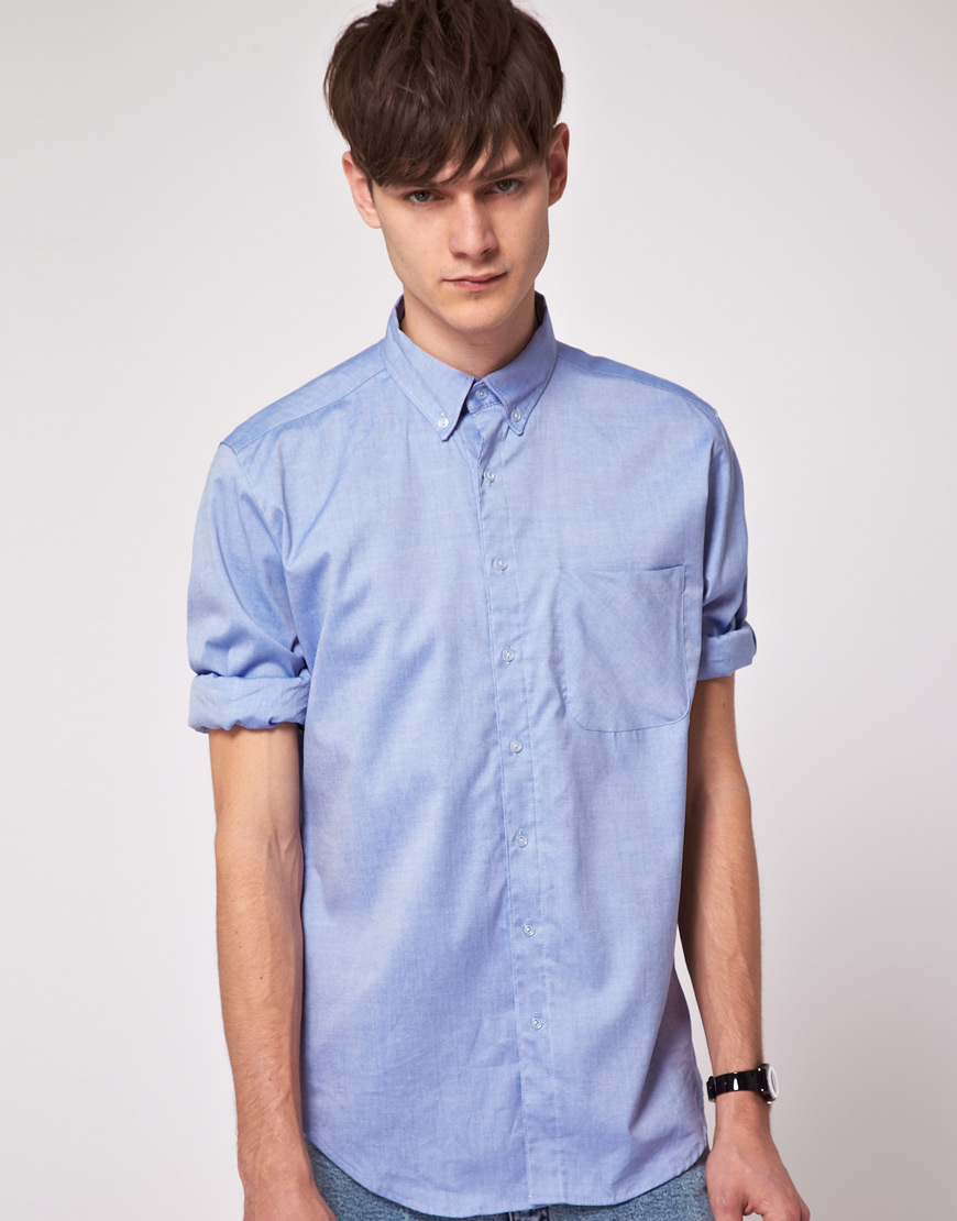 American Apparel American Apparel Pinpoint Button Up