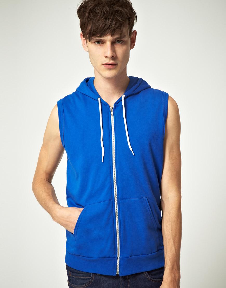 Sleeveless hoodie shirt