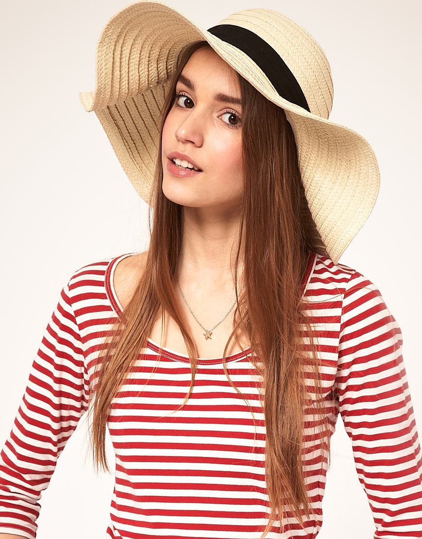Lyst - ASOS Asos 70s Straw Floppy Hat in Natural 4e5f6fa3f5d