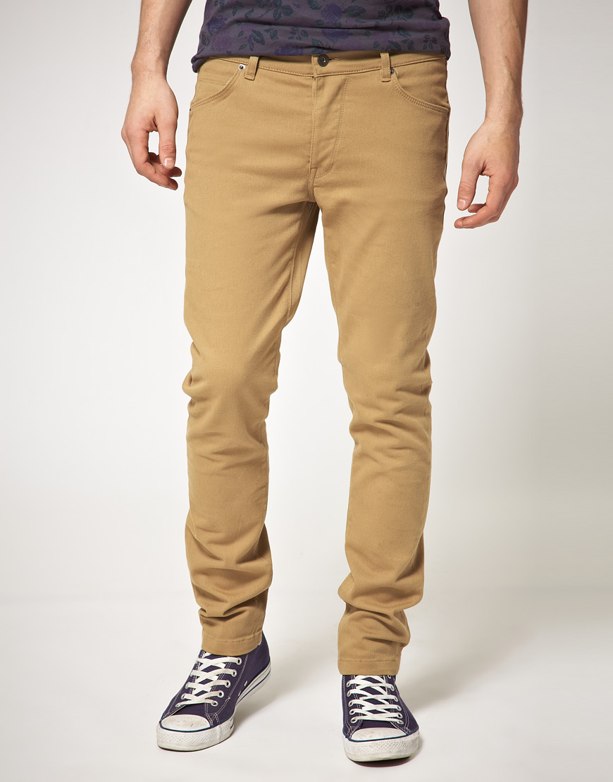 Asos Tan Skinny Jeans in Brown for Men | Lyst