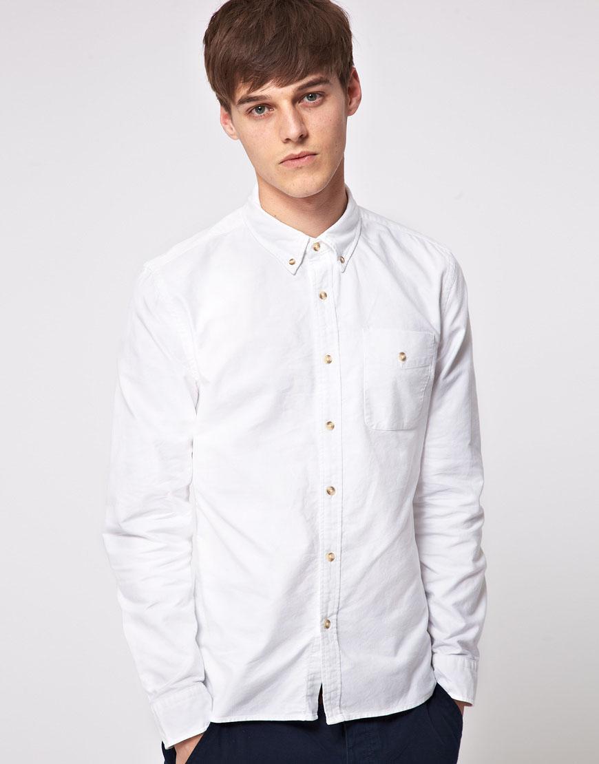 Asos Oxford Shirt In White For Men Lyst