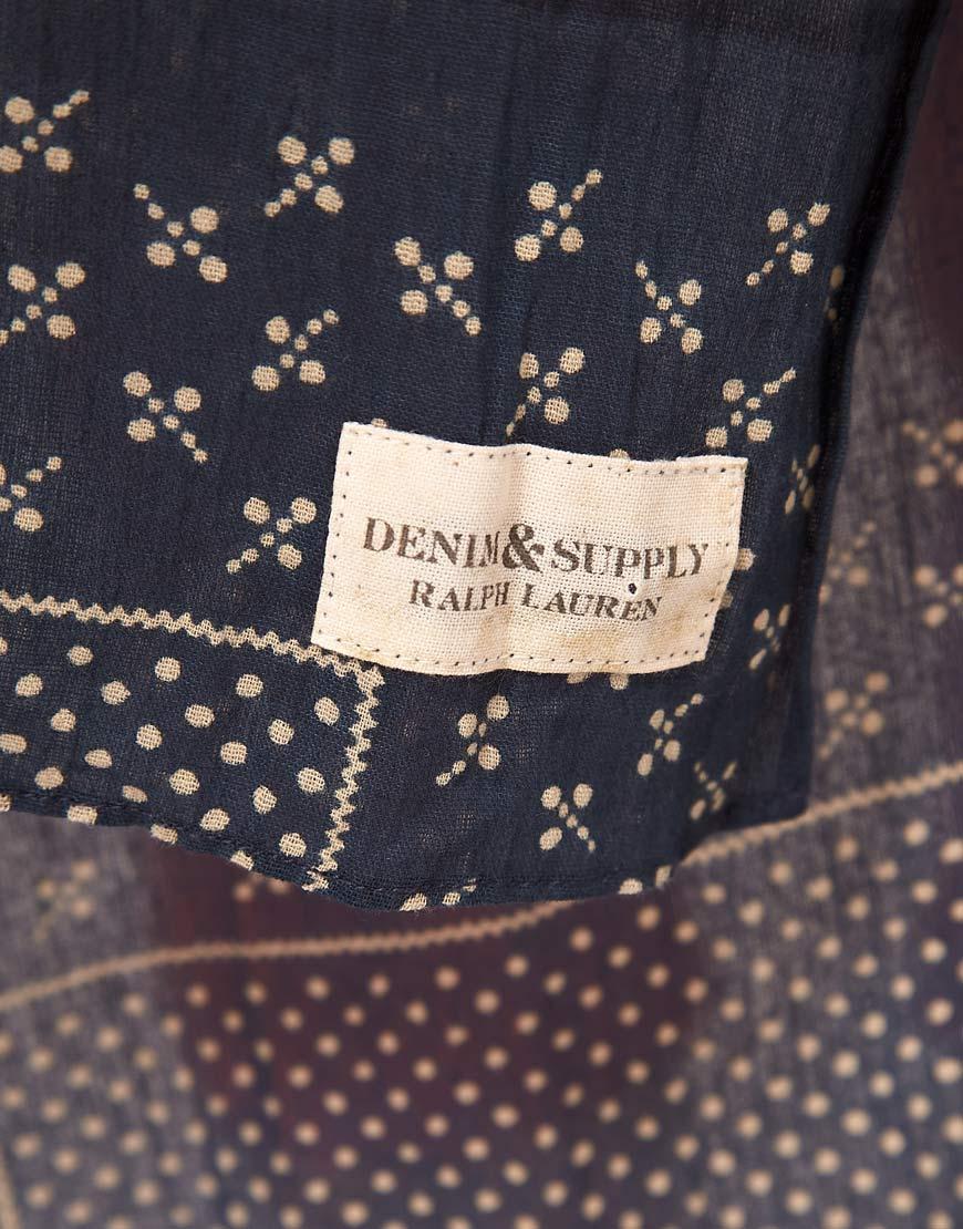 Ralph Lauren Denim Supply Bandana Print Scarf In Blue Lyst